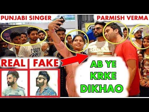 Fake Celebrity Prank | PARMISH VERMA | Fans Epic Reactions