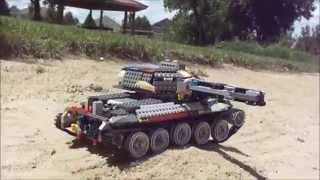 Lego remote controlled tank / Лего танк на пульте управления(Мой новый лего танк. My new lego tank., 2015-07-19T04:03:03.000Z)