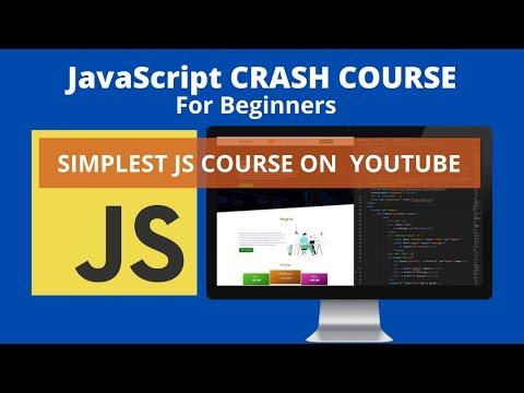 Javascript Crash Course For Beginners - Learn JavaScipt (2021)