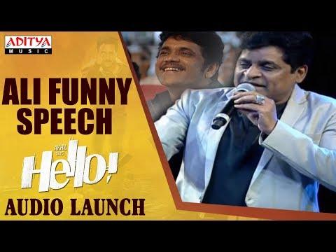 Ali Funny Speech @ HELLO! Movie Audio Launch | Akhil Akkineni, Kalyani Priyadarshan