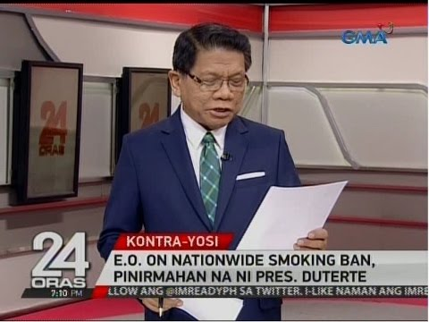 24 Oras: E.O. on Nationwide Smoking Ban, pinirmahan na ni Pres. Duterte