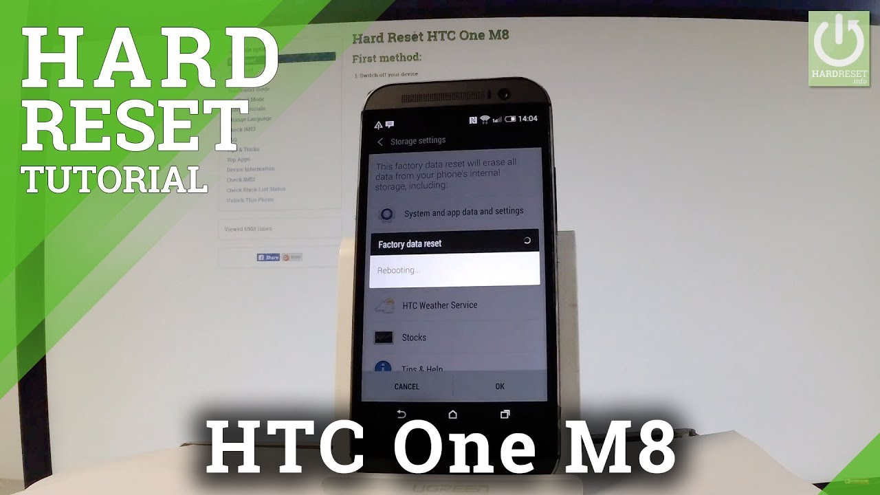Hard Reset HTC One M8 - HardReset info