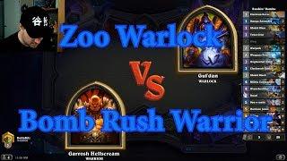 Bomb Rush Warrior vs Zoo Warlock | Hearthstone