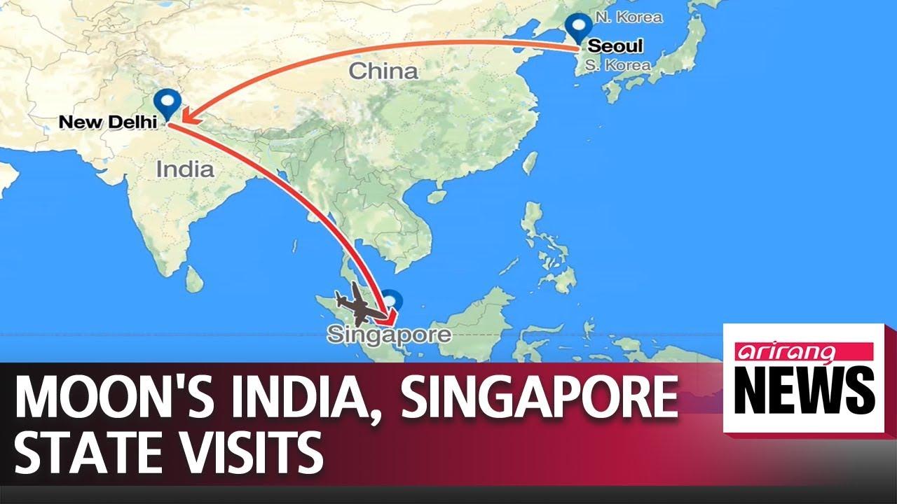S Korean President Moon To Make State Visits India Singapore Next Week