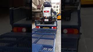 트위지초소형전기차대형리프트용달운송 결속영상