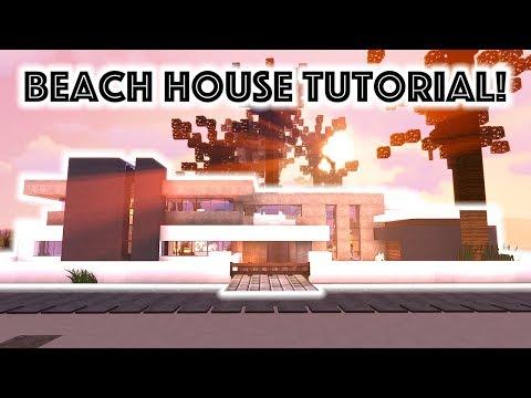 Minecraft Tutorial: Modern Beach Mansion #3!!! [4K UHD]
