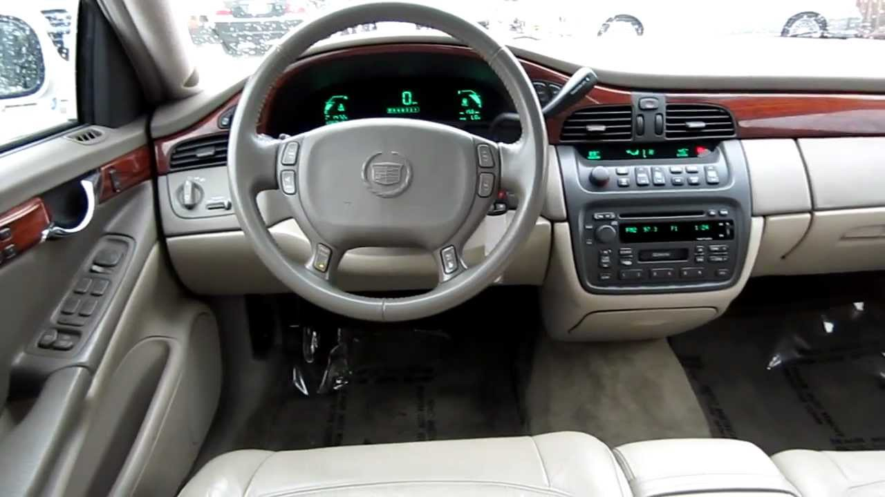 2003 Cadillac Deville White Stock L207494 Interior Youtube