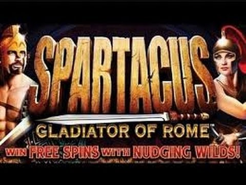 WMS - Spartacus Gladiator Of Rome Slot machine: 2 Line Hits & Bonus on $2.50 bet