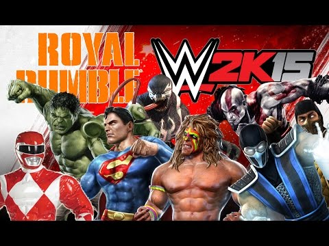 WWE2K15 Superheroes and WWF Legends Royal Rumble