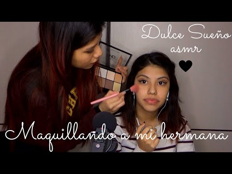 SORPRESA ASMR Español - maquillando a mi hermana / doing my sisters makeup