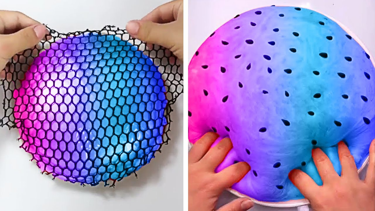 Oddly Satisfying Slime ASMR No Music Videos - Relaxing Slime 2020 - 186