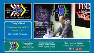 Church of God Hong Kong - Government and Us - Roman 13:1-7