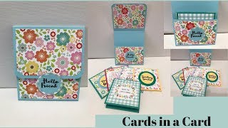 3x3 Note Cards in a Card