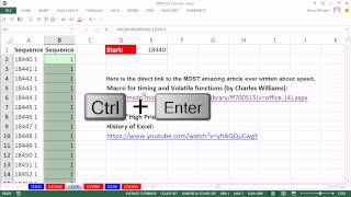 Excel Magic Trick 1114: Formula For Sequential & Repeating Numbers: 18400 1, 18441 1, 18442 2...