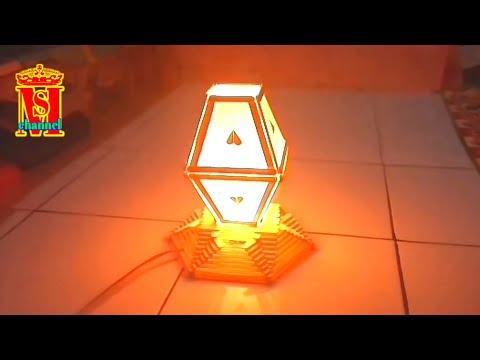 DIY Cara membuat lampu tidur dari stik eskrim