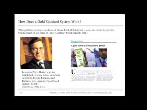 Nathan Lewis presentation on gold standard systems at the Cato Institute, 12Feb14