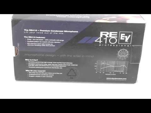 [Review]Electro Voice RE410 Handheld Condenser Cardioid Vocal Microphone At Musicians Friend