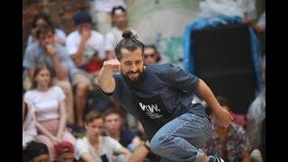 BEATMASTER vs TADJ. 1/8 Freestyle Dance Battle. V1 Festival 2018