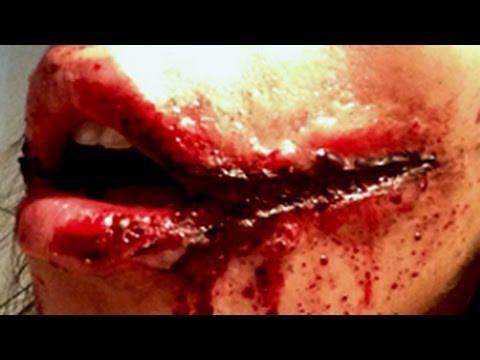 Maquillage effets sp ciaux sourire de l 39 ange youtube - Maquillage halloween cicatrice ...