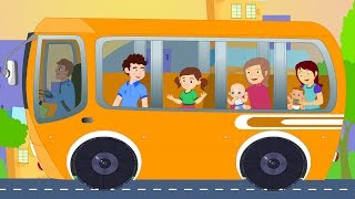 Wheels On The Bus Go Round And Round Nursery Rhyme