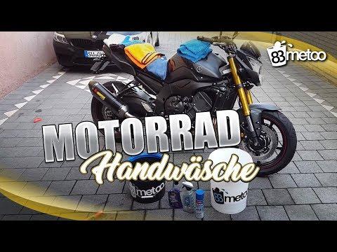 Schonende Motorrad Handwäsche 2 Eimer Methode mit Caramba Motorradreiniger Motorradwäsche 83metoo