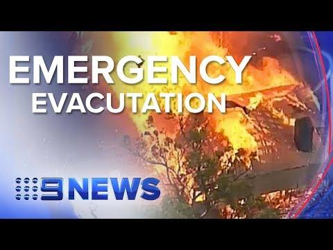 Emergency warning for residents as Victorian bushfires rage on | Nine News Australia