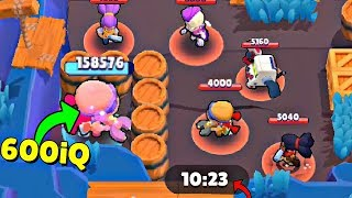 600 iQ HIDING SPOT in Brawl Stars!  Wins & Fails #33