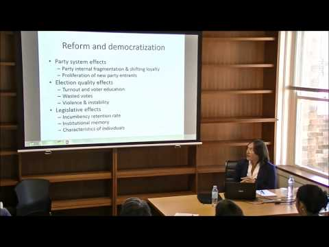 Sarah Shair-Rosenfield on 'Effects of electoral reform on democratization in Indonesia' (11/03/2014)