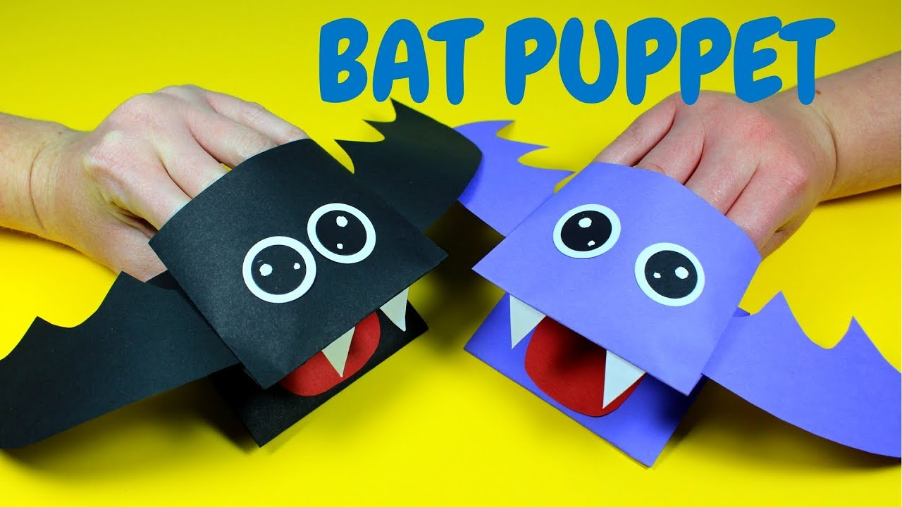 photo about Free Hand Puppet Patterns Printable referred to as How toward Produce a Paper Bat Hand Puppet Halloween Crafts for Small children