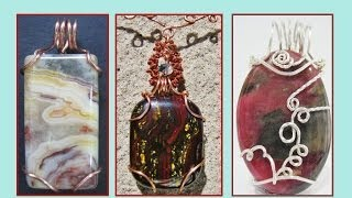 Simple and Easy TUTORIAL of Wire Wraps for Different Shapes of Stone   Liz Kreate
