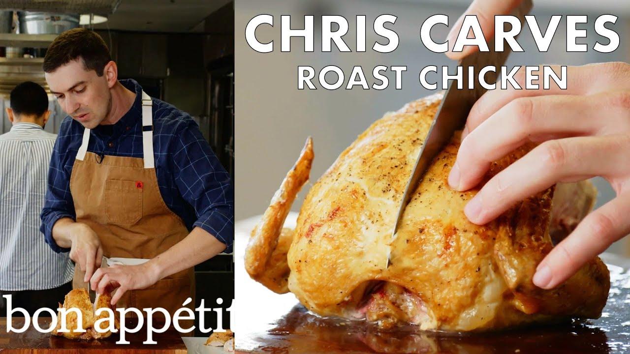 Chris Carves a Roast Chicken | From the Test Kitchen | Bon Appétit