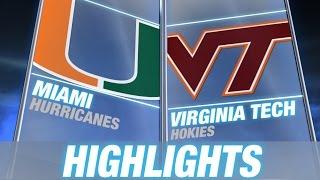 Miami vs Virginia Tech | 2014 ACC Football Highlights