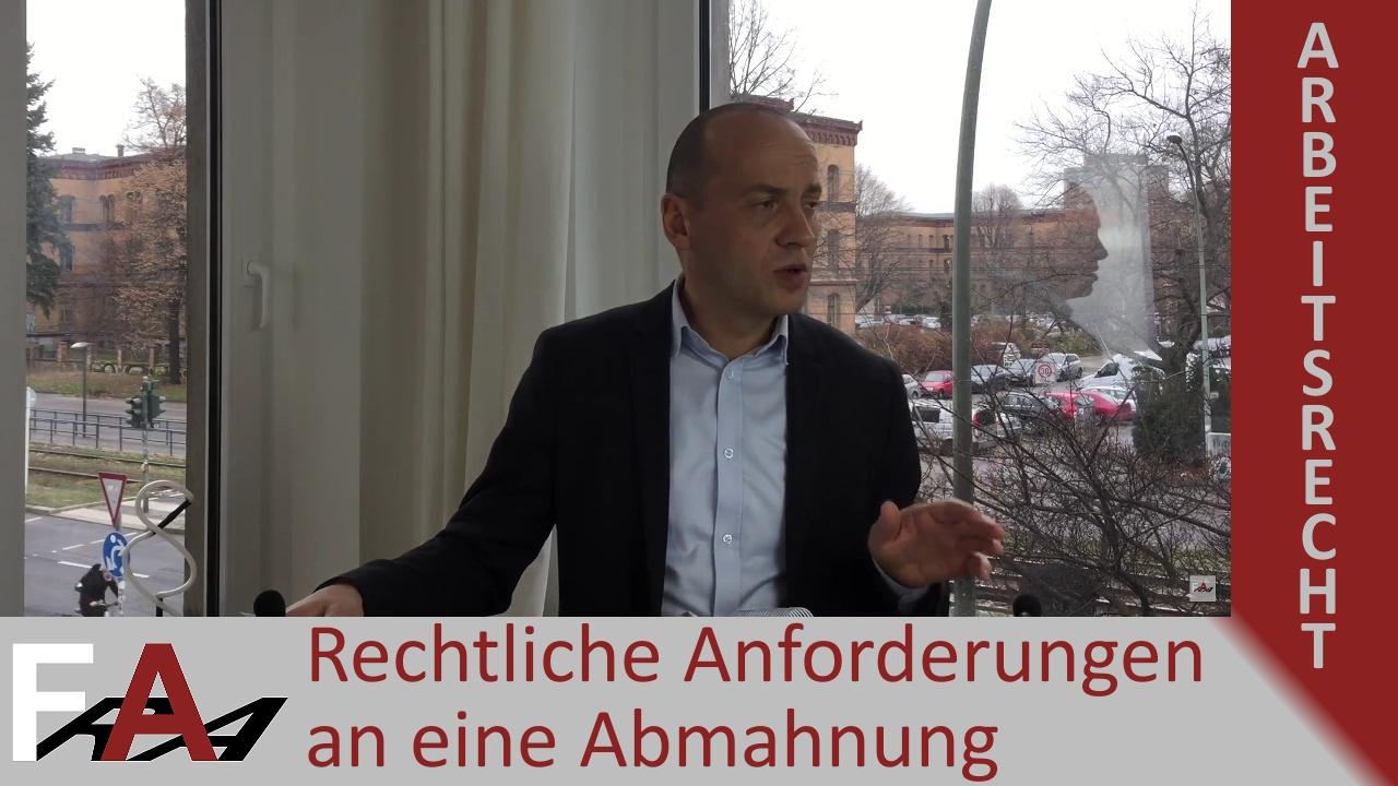 Abmahnung Wie Mahnt Man Wirksam Ab Fachanwalt Bredereck Youtube