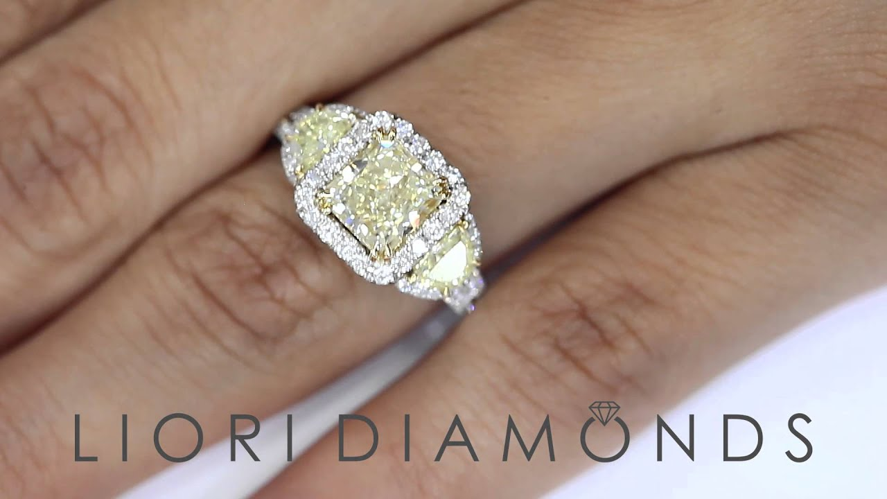 Three Stone Radiant Cut Diamond Ring