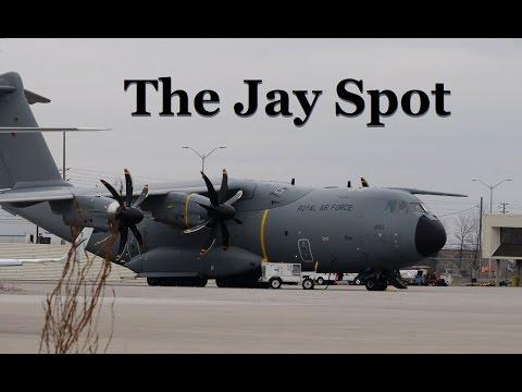 Cloud News Bulletin: Rare R.A.F. Airbus A400M Visits Toronto YYZ