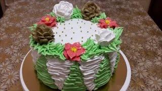 Украшение тортов в домашних условиях кремом Оформление тортов кремом Cake decoration