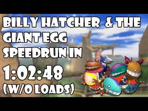 Billy Hatcher and the Giant Egg Any% Speedrun | 1:02:48 (w/o loads)