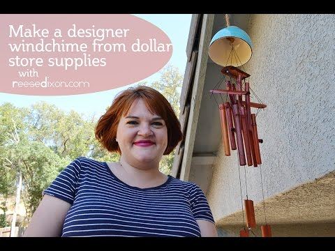 Make A Designer Windchime From The Dollar Store!