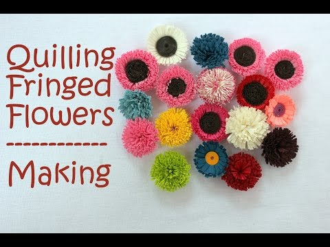 How to make Quilling Fringed Flowers - 2 Designs using Paper Quilled Art
