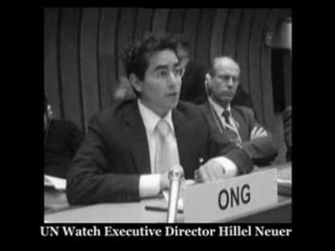 UN Watch's Hillel Neuer Exposes Anti-Israel Bias Of Human Rights Commission On