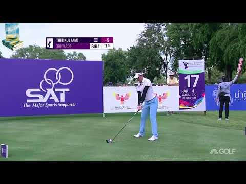 14 Year Old Champion Atthaya Thitikul's Best Golf Shots 2017 Ladies European Thailand Cham