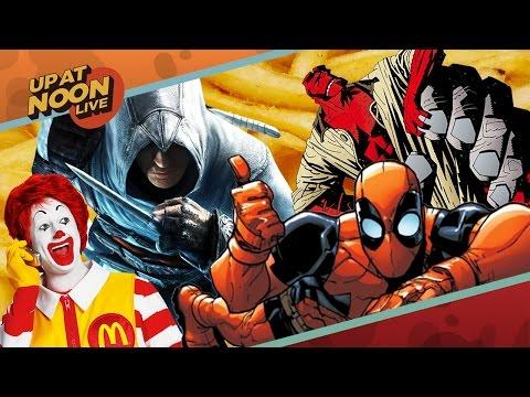 Deadpool's Adult Cartoon, Assassin's Creed Leaks, & Hellboy Reboot - Up At Noon Live!