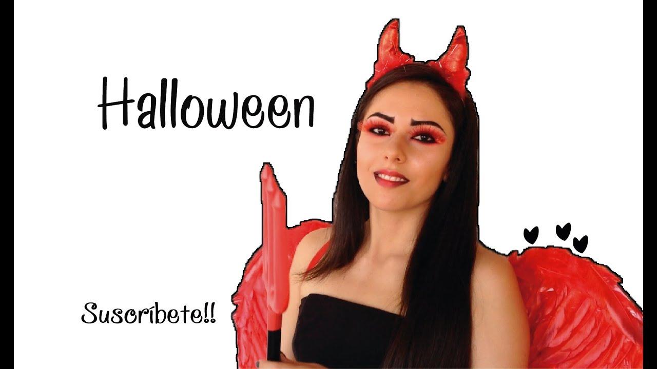 Maquillaje y Disfraz para Halloween (DIABLA) ♡ Naila Londoño