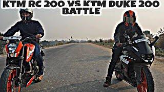 Download KTM RC 200 VS KTM 200 | DRONE SHOTS | AMOTO VS RDS |DRAG RACE BATTLE #ktm #bike Mp3 and Videos