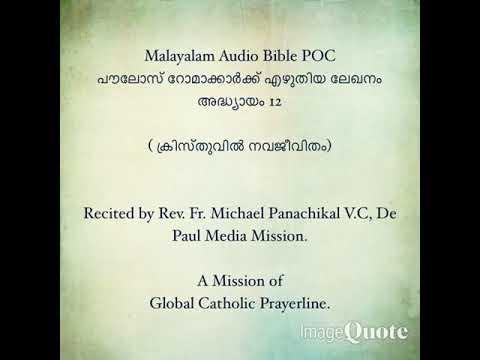 251- Catholic Bilingual Audio Bible- Romans-( Malayalam and English)- 11 to  16- Chapters