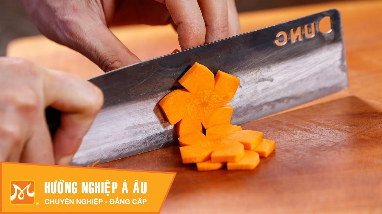 5 cách cắt tỉa cà rốt đơn giản trang trí món ăn | Học cắt tỉa cà rốt