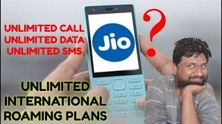 Jio Unlimited International Roaming Plans | Jio International Roaming with Unlimited Incoming calls