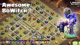 17 Bowler+5 Witch+1 Pekka= Awesome BoWitch | TH12 War Strategy #88 | COC 2018 |