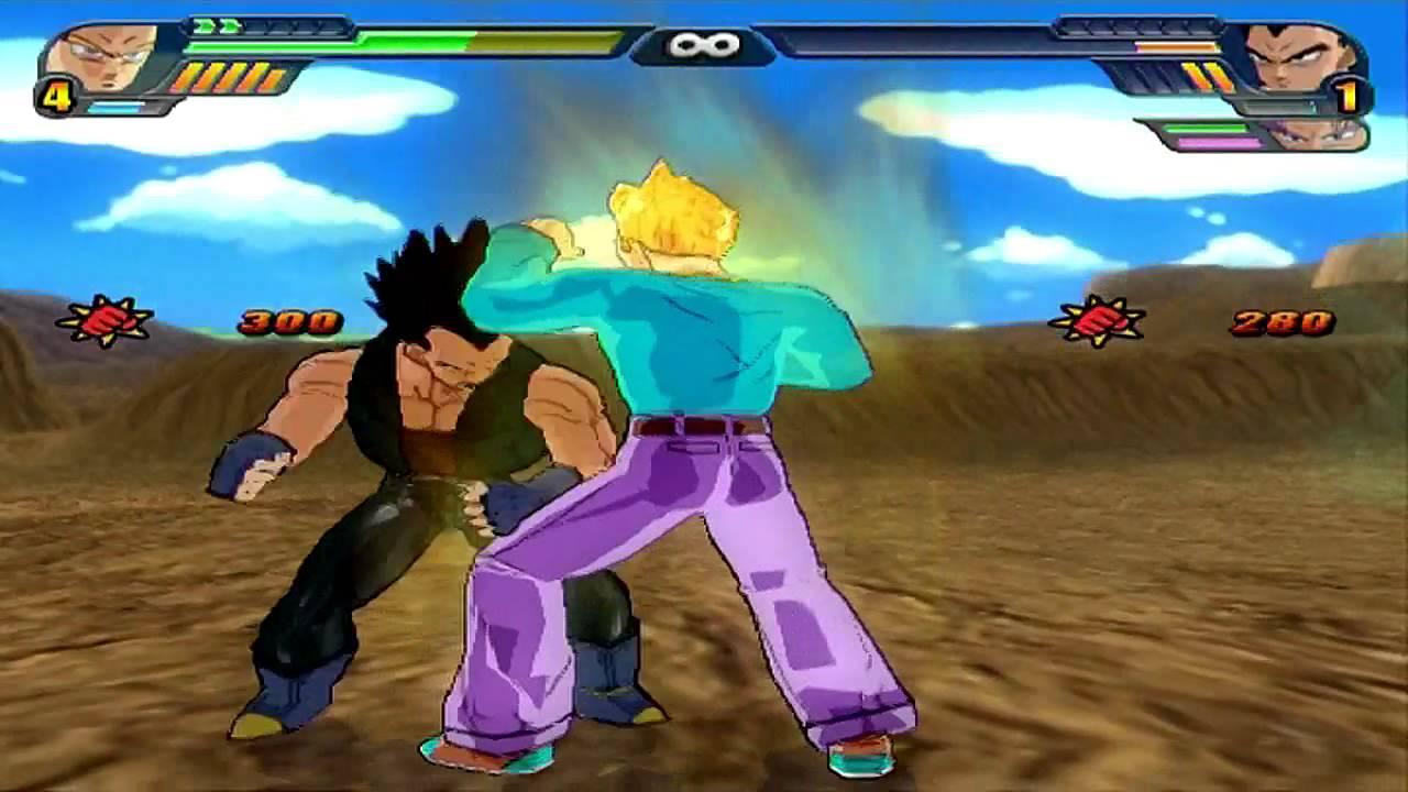 Goten GT vs Vegeta GT  Trunks GT  Dragon Ball Z Budokai