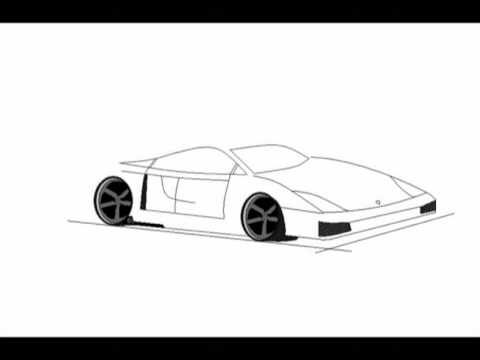 how to draw a lamborghini gallardo on ms paint